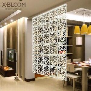 Panneaux muraux suspendus 29x29cm 12 pièces   Panneaux de séparation pour salle de séjour, décoration artistique murale de séparation pour la maison bricolage, autocollant mural en bois et en plastique blanc