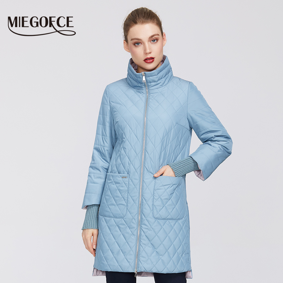 MIEGOFCE 2020 Women's Fashion   Parkas   coat Female Spring Jacket With Scarf Women's Coat Spring Autumn New Arrival Hot Sale