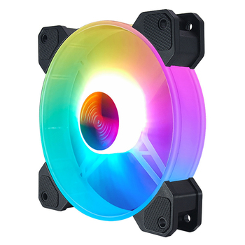 VODOOL 12cm 12V 4Pin PC Case Cooler Fan for Computer Chassis CPU 5V 3Pin ARGB Lighting PWM Radiator Cooling Heatsink image