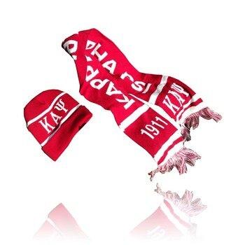 Dive Nine Fraternity Inc SCARF Kapp Alpha Psi Winter Graduation Kente Stole  Scarf Hat Set Knit Scarf