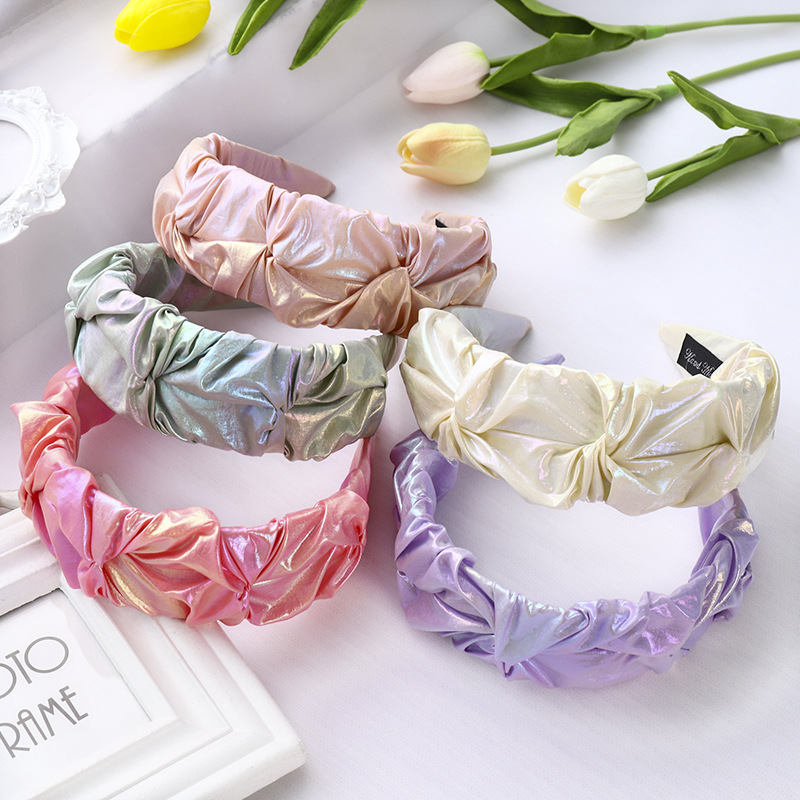 Ethnic Neon Color Leather Twisted Hairband Handmade Headband Customized Hair Accessories