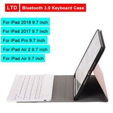 Bluetooth 3.0 Tablet Keyboard Case For iPad 2018/iPad 2017/iPad Pro/Air 2/Air 9.7 inch Flip Leather Cover For Apple Mediapad стоимость