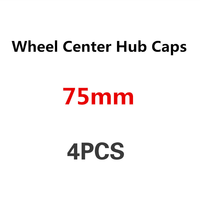 4x BIG MERCEDES BENZ 75mm AMG EDITION ONE ORANGE Emblem Badge Wheel Center Caps