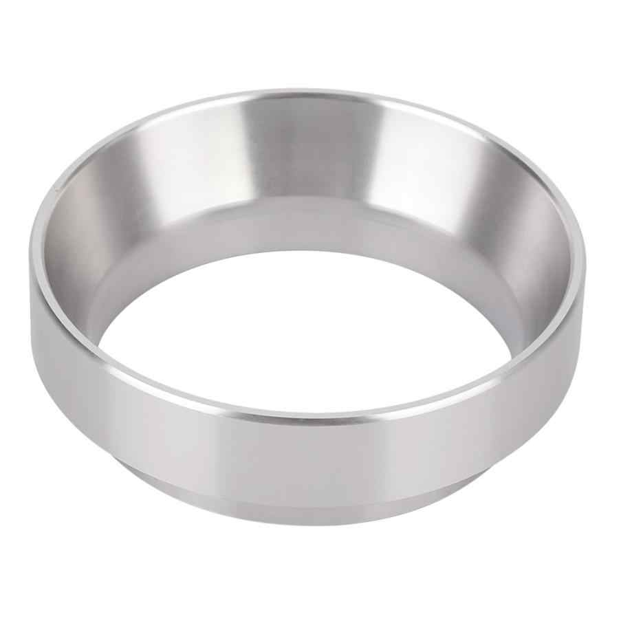 Aluminum Alloy Material Dosing Funnel Practical Espresso Stainless Steel Coffee Powder Ring 58mm for Brewing Bowl for Portafilters Black