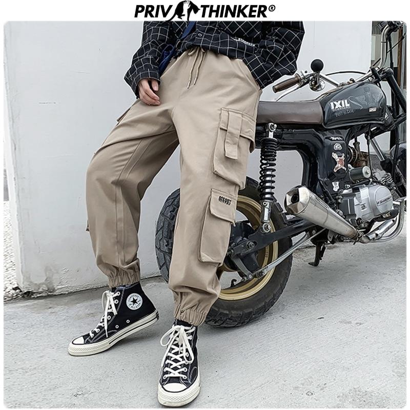 Privathinker Men Autumn Pockets Hip Hop Harem Pants Mens 2019 Fashion Korean Cargo Pants Male Loose Oversize 5XL Joggers Clothes