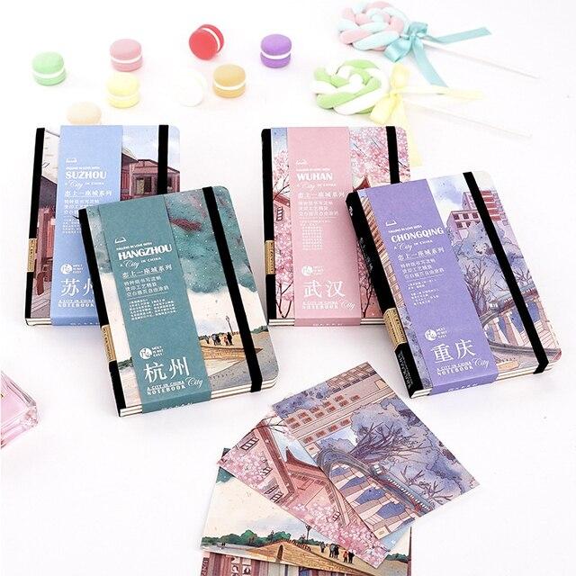 סיני עירוני סגנון מתכנן סדר יום A4 ריק פנימי דף מחברת וכתב העת Kawaii בחזרה בית ספר הערה ספר נסיעות Handbook