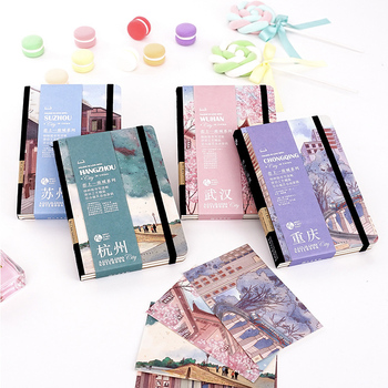 Chinese urban style Planner Agenda A4 blank inner page Notebook and Journal Kawaii Back to School Note Book Travel Handbook style page 3