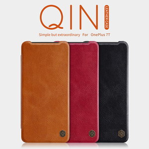 Image 2 - For Oneplus 7T Pro Flip Case NILLKIN QIN Flip Leather Cover For Oneplus 7T Case wallet Phone Case with Card Pocket