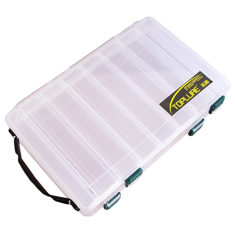 NewFishing Box For Baits Double Sided Plastic Lure Boxes Fly Fishing Tackle Storage Box Supplies Accessories High Strength