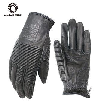Retro uglybros ubg- 516 rękawice moto rcycle rękawice rękawice do lokomotyw prawdziwej skóry moto rękawice Unisex rękawice motocyklowe 3 kolory tanie i dobre opinie Z pełnym palcem Skóra moto gloves