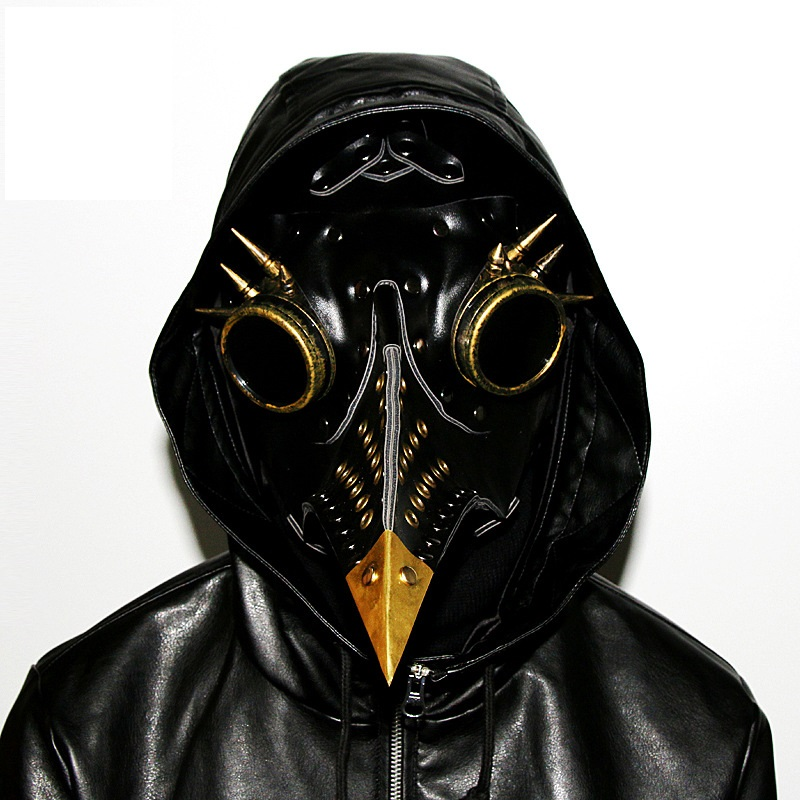 Hot style steampunk retro plague bird mouth mask Halloween props gifts
