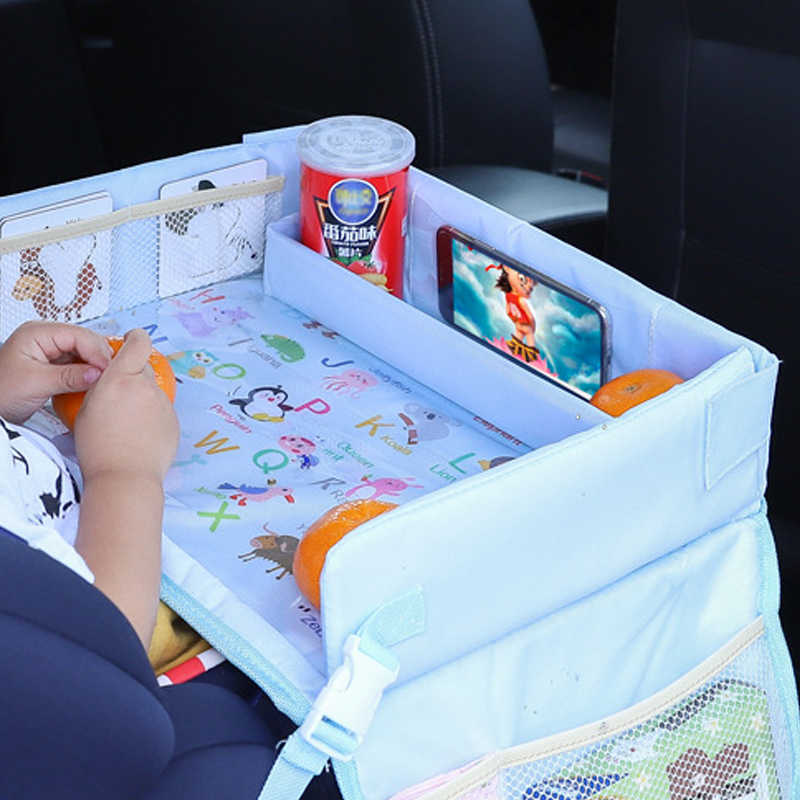 Kid Seat Tray Upgraded Multifunction Autos  Waterproof Table Car Seat Tray Storage Kids Toys Infant Holder Cartoon Baby Fence