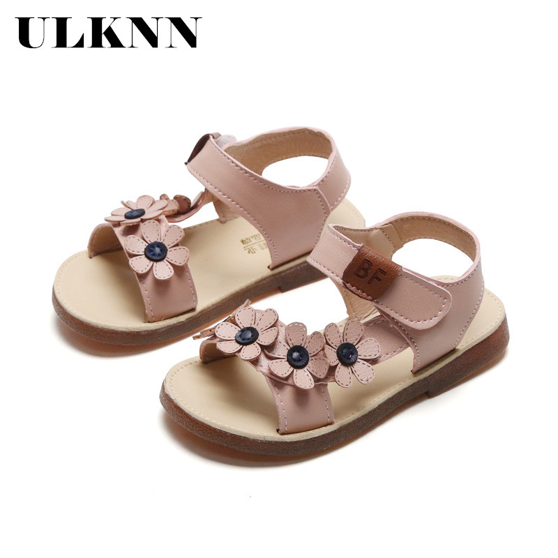 ULKNN 2020 New Summer Sandals Korean Girls In Flower Children Princess Shoes Fashion Soft Bottom Children's Sandals