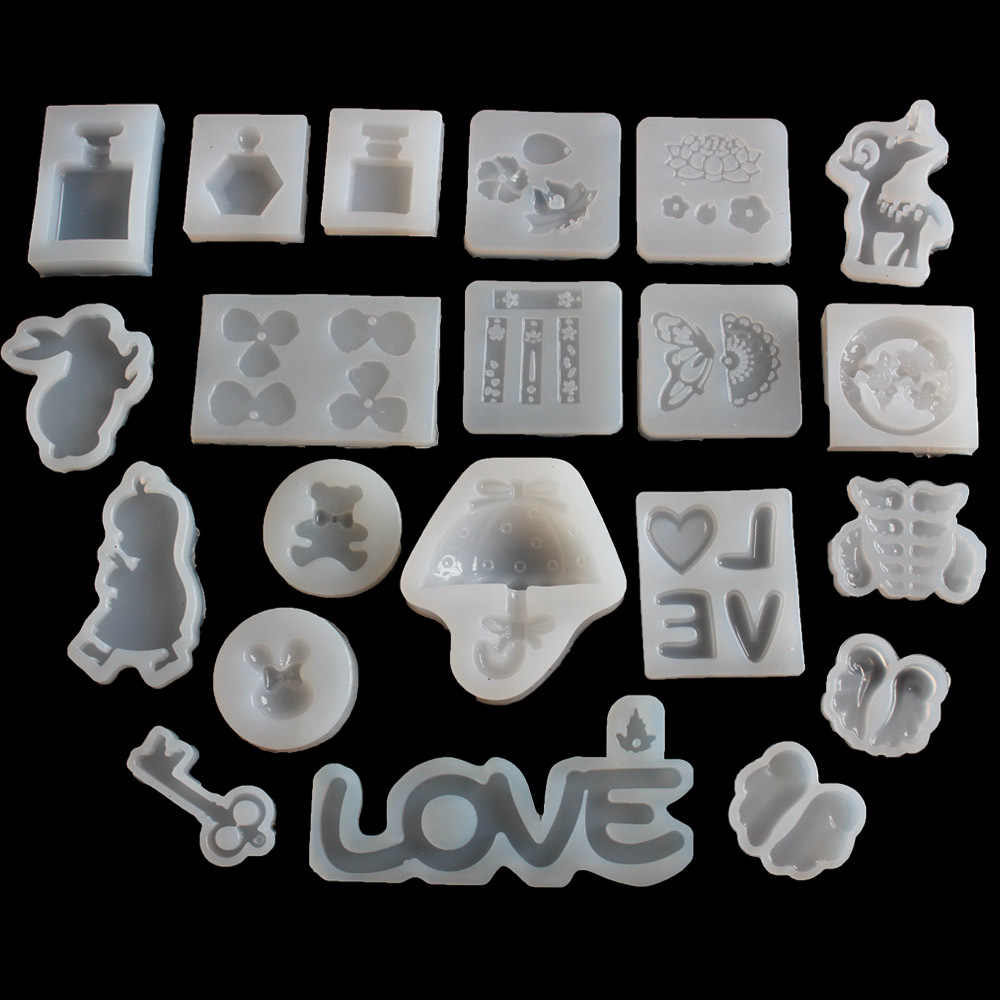 Popular1PC Snowflower Shaped Liquid Silicon UV Resin Mold For Making Jewerly Earrings Hair Accessories Jewelry Tools