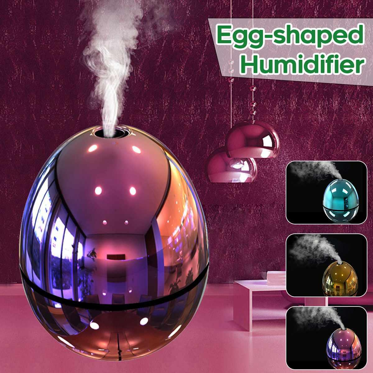 New Air Humidifier USB Electric Portable Egg Shape Humidifier Mini Mist LED Atomizer Air Purifier Diffuser For Home Car Fogger