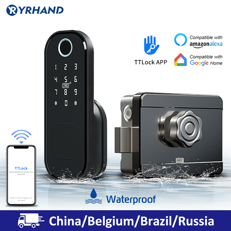 Ultimate SaleRim-Lock Smart-Card Fingerprint Wifi Digital-Code Waterproof Electronic Home-Security
