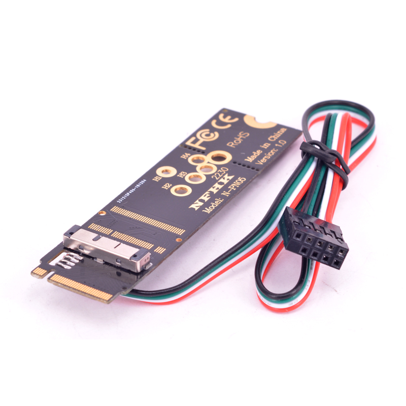 M Key PCI-e NVMe <font><b>M2</b></font> M.2 <font><b>Adapter</b></font> for <font><b>Macbook</b></font> BCM943602CS BCM94360CS2 BCM943224PCIEBT2 BCM94331CD WiFi Wireless Network card image