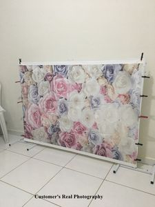 Image 3 - Laeacco Vinyl Photography Backgrounds Floral Wall Rose Flowers Wedding Backdrops Birthday Baby Shower Photozone For Photo Studio