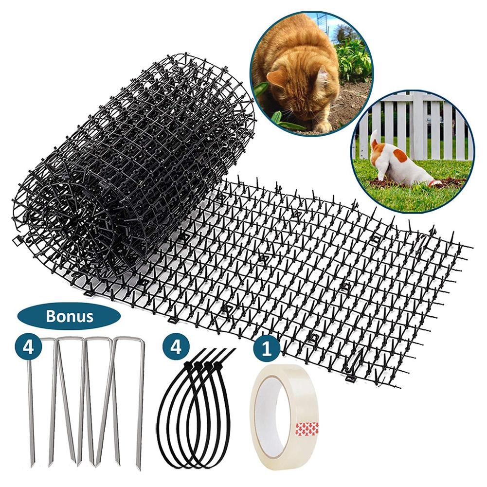 4 Pieces/Set Of Environmentally Friendly Gardening Plastic Anti-cat Thorns Cat And Dog Repellent Pad Plastic Nails Strips