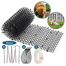 4 Pieces/Set Of Environmentally Friendly Gardening Plastic Anti-cat Thorns Cat And Dog Repellent Pad Nails Strips