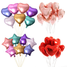 10pc Gold Metallic Foil Balloons Confetti Air Balloon Birthday Party Decorations Kids Adult Wedding Ballons Baby Shower Supplies