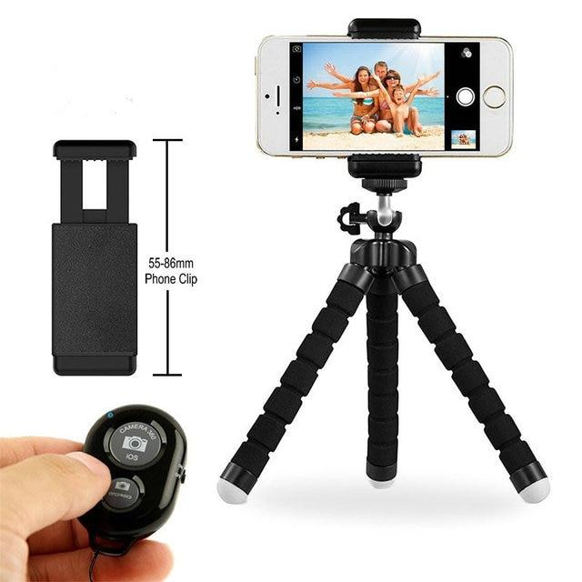 Flexible Mini Stativ Flexible Telefon Stativ Mit E typ Telefon Clip 1/4 schraube loch Kamera mini stativ Für Smartphone & kamera