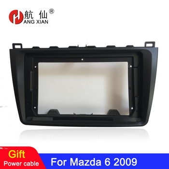 HANGXIAN 2 Din Car Radio Fascia frame for Mazda 6 2009 car DVD GPS navi Panel Dash Kit Installation Frame Trim Bezel image