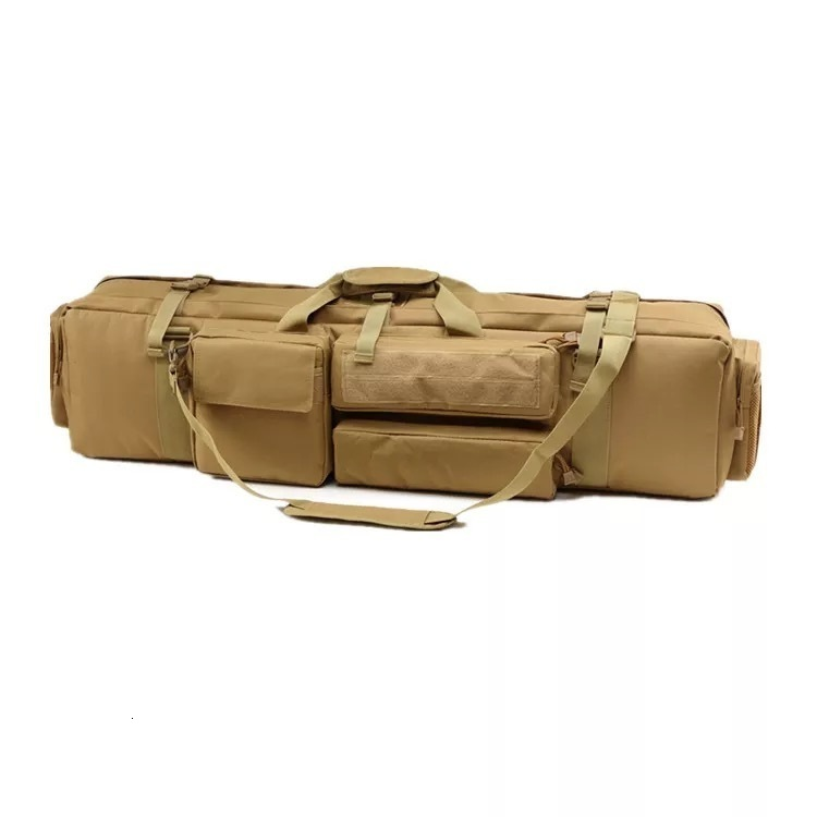 Brown Tactical Bag Double Package Capacity Side View