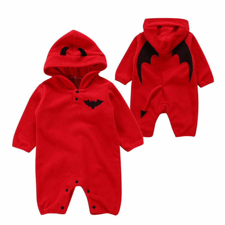 Infant Neugeborenen Baby Mädchen Halloween Kürbis Strampler Overall Mit Kapuze Outfits baby halloween kostüm jungen winter kleidung körper neonato