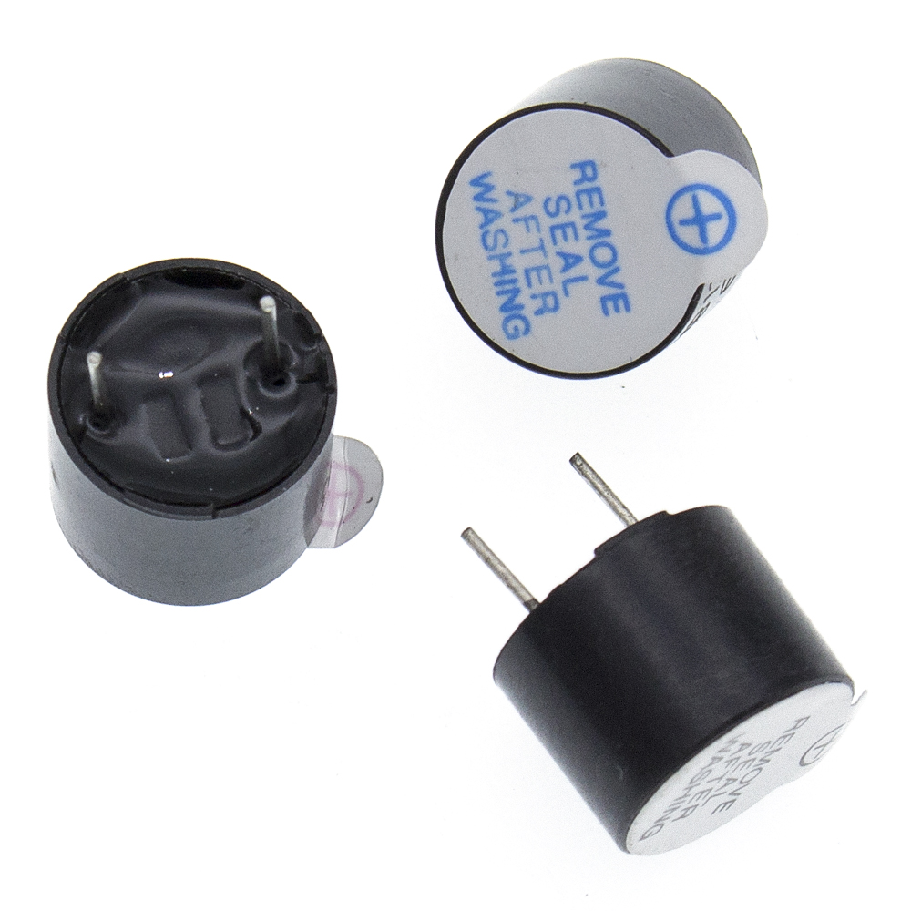 1 2 or 5 5v Active Buzzer Magnetic Long Continous Beep Tone 12*9.5mm Pack