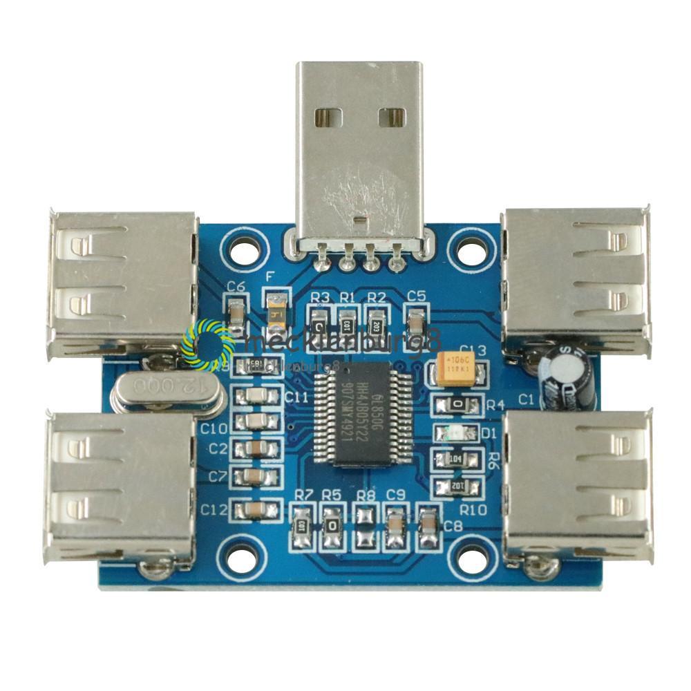 NEW DIY DC 5V USB HUB USB2.0 Hub Concentrator 4 Female USB Expansion Board Module