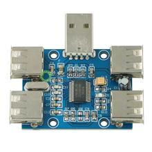 새로운 diy dc 5 v usb 허브 usb2.0 허브 집중 장치 4 여성 usb 확장 보드 모듈