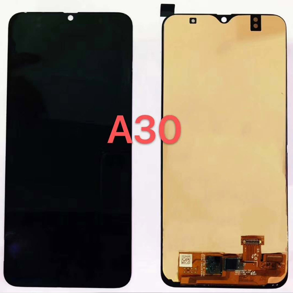 AMOLED LCD For <font><b>Samsung</b></font> A20 A205 <font><b>A30</b></font> A305 A30S A307 A50 A505 A50S A507 lcd screen <font><b>display</b></font> touch panel assembly M30 M40S lcd frame image