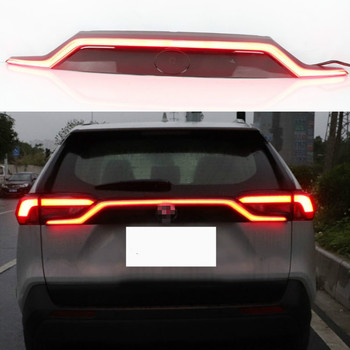 For For Toyota RAV4 2019 2020 Red black Rear Bumper Reflector LED Tail Stop Brake Light Car