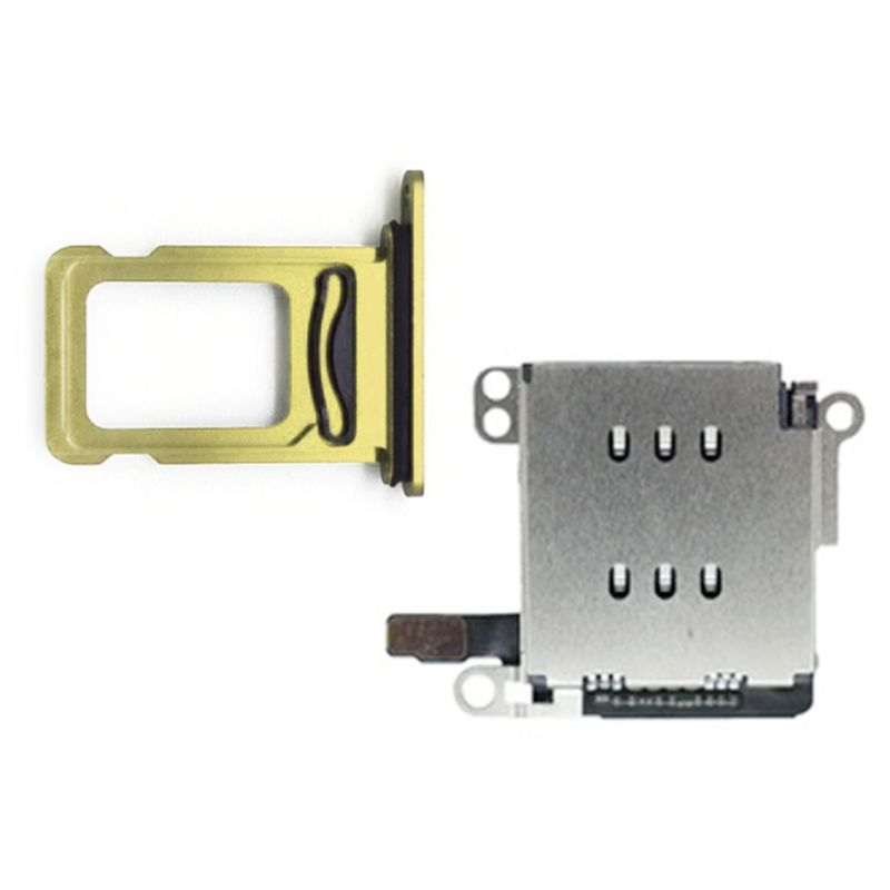 1Set Dual Sim Card Reader Connector Flex Cable Card Tray Holder For IPhone XR