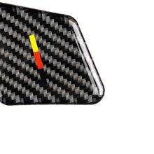 4pcs black car Interior Door Handle Cover Trim Sticker Carbon Fiber For Mercedes W204 W212 Decorative Stickers