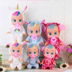 3D Animal Babies Dolls Unicorn Cute Baby Toys Electric Doll Tearing Full Vinyl Silicone Body Birthday Surprise Gift for Kids