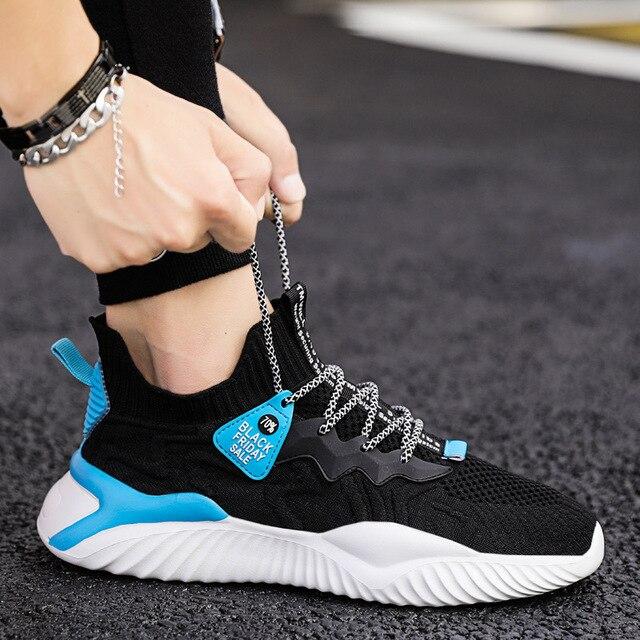 Zapatillas deportivas de malla para hombre, zapatos informales, transpirables, cómodos, a la moda, para exteriores, para verano 2