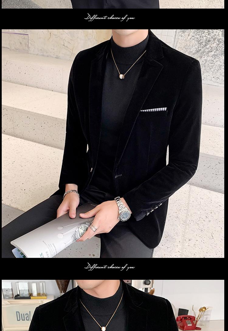 Hdffa79d4596c46e4be669451c45ffe6ag - Autum Velvet Wedding Dress Coat Mens Blazer Jacket Fashion Casual Suit JacketStage DJ Men's Business Blazers Veste Costume Homme