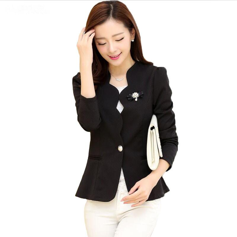 Large Size Blazer Women Jacket New 2020 Blazers Women Coat Spring Autumn Suit Woman Coats Short Slim Jackets Female Suits Black