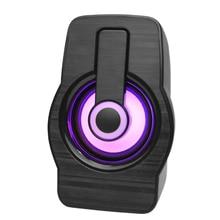 Mini Speaker Computer Active Home Notebook 1 USB FT-185 Illuminated Desktop Colorful