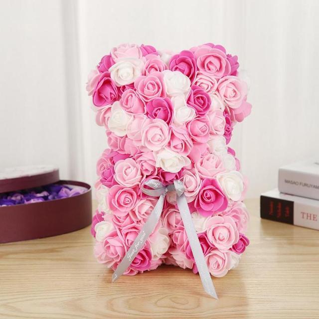 Rose Teddy Bear Rose Flower Artificial Decoration