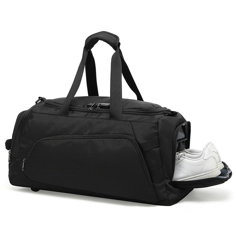 Pliable étanche ensemble valise hommes sac de voyage grande capacité sac à main nouveau sac avec sac à chaussures indépendant