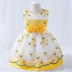 2021 bonito 2 1 ano vestido de aniversário para a menina do bebê roupas princesa vestido de festa e vestidos de casamento estilo fazenda 3 12 24 mês