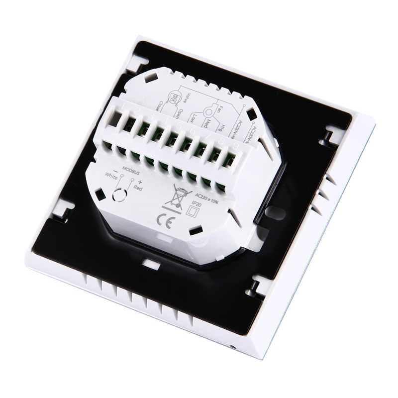 Kontrola WIFI programowanie tygodniowe cewki wentylatora termostat pokojowy AC 110-240V 2A inteligentny klimatyzator regulator temperatury