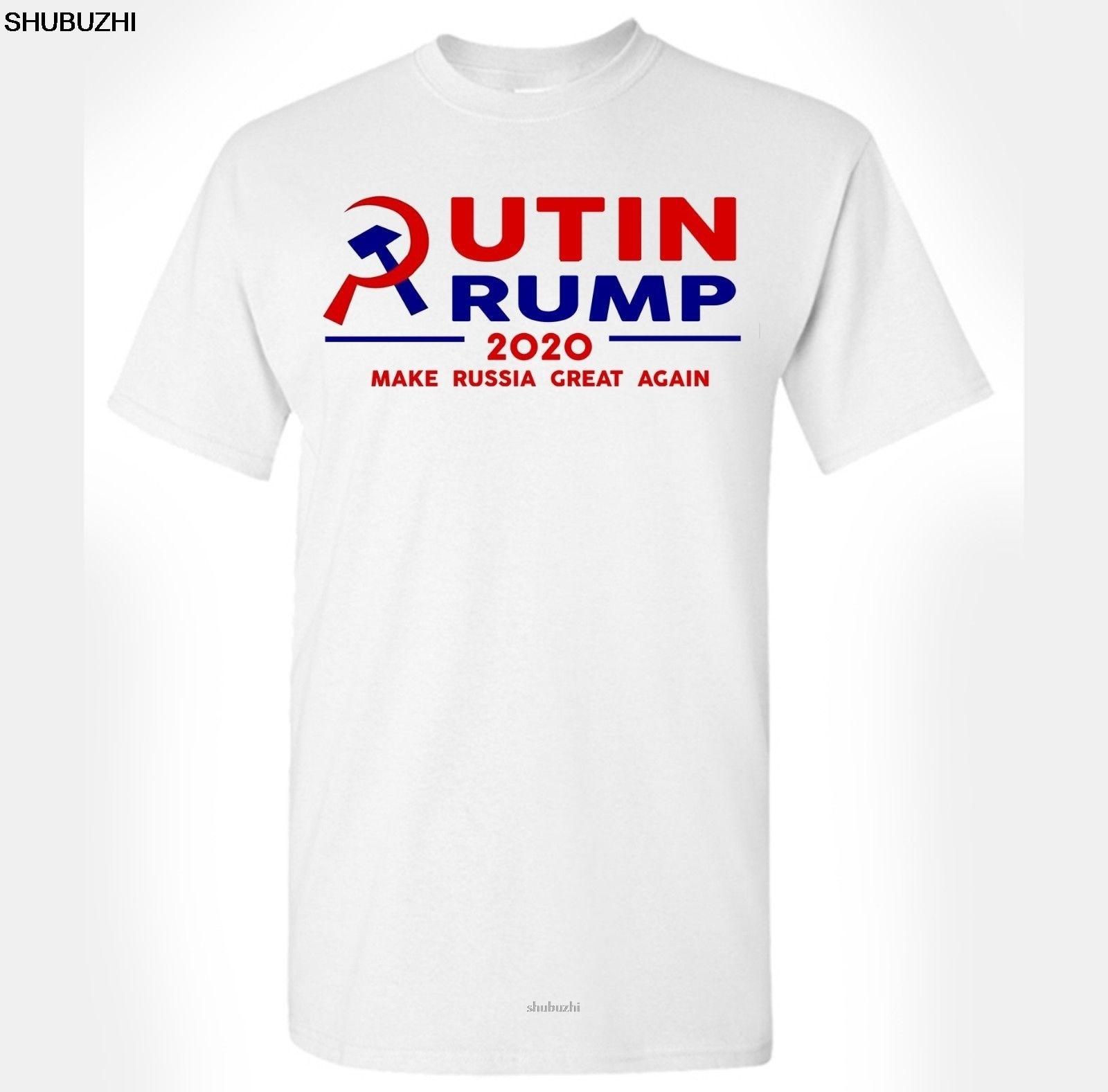 Donald Trump T-Shirt Make Russia Great Again Anti-President Putin Impeach Funny