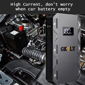 Пусковое устройство GKFLY, портативное пусковое устройство высокой мощности 20000 мАч, 12 В, 1500 А, зарядное устройство для автомобиля, светодиодный усилитель аккумулятора