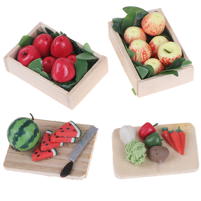 Baby Early Education Wooden Kitchen Toys Cutting Fruit Vegetables Education Food Toys For Kids Girl For Preschool Children Gifts