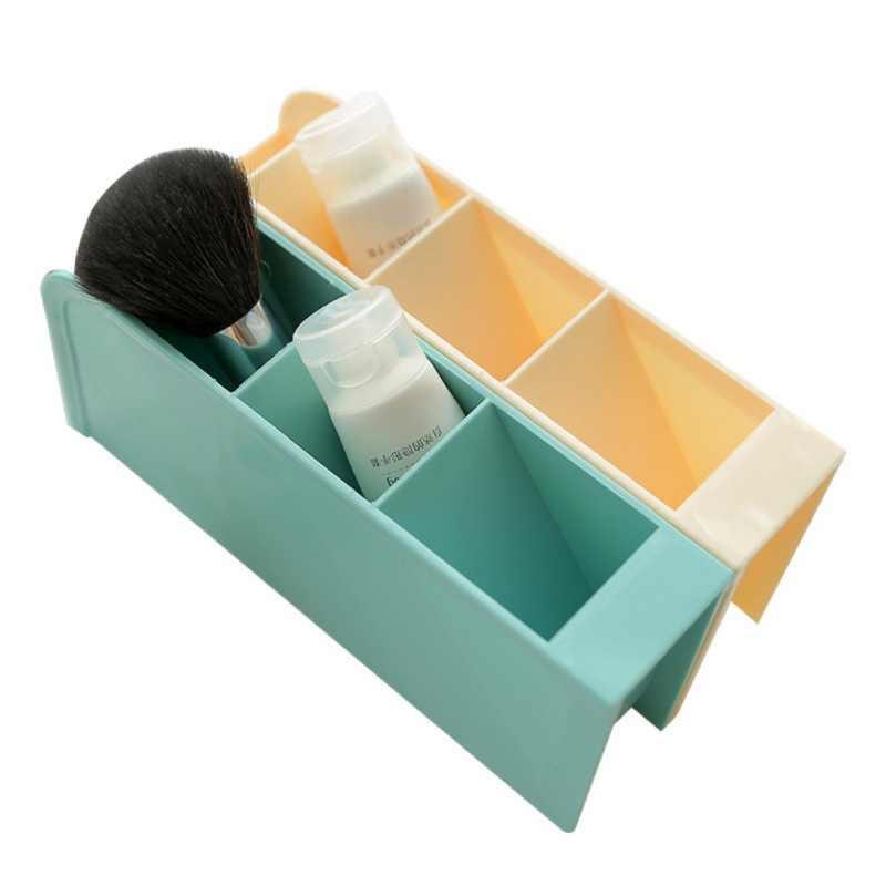 4 сетки Настольный креативный ящик для хранения многофункциональный чехол подсетка макияж косметический держатель настольный карандаш ручка Органайзер