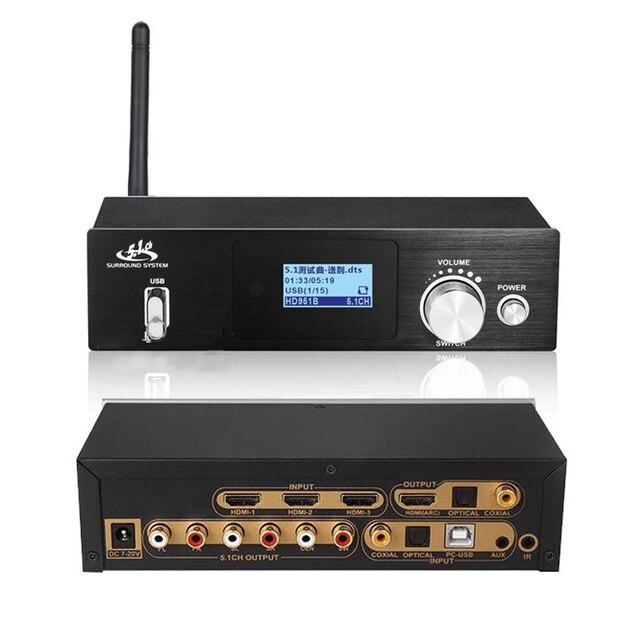4k * 2k hdmi para hdmi extrator conversor bluetooth dac digital spdif hdmi dts 5.1 áudio decodificador hdmi arco conversor de áudio engrenagem